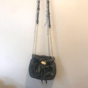 Badgley Mischka black & gold shoulder bag